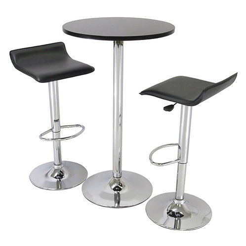 Home > Dining > Dining Sets > 3 Piece Modern Dining Set with Bistro Table and