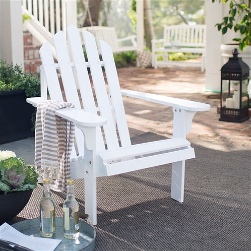 Home > Outdoor > Outdoor Furniture > Adirondack Chairs > White Wood Classic A