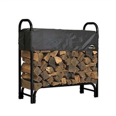 Home > Outdoor > Firewood Racks > Outdoor Firewood Rack 4-Ft Steel Frame Wood