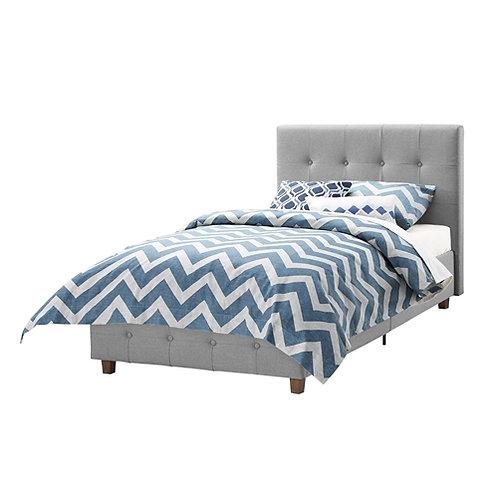 Home > Bedroom > Bed Frames > Upholstered Beds > Twin size Grey Upholstered P