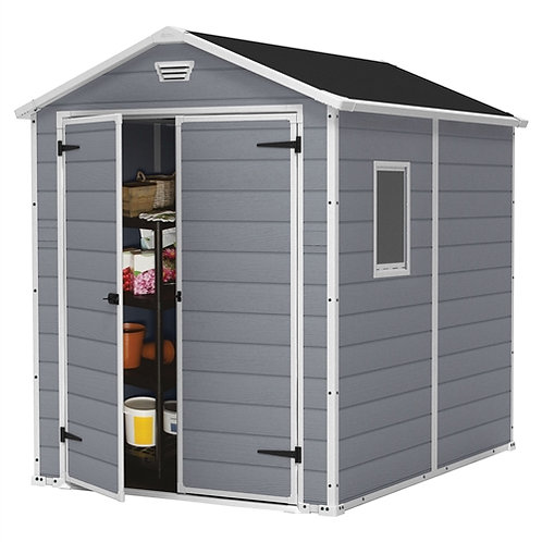 Home > Outdoor > Storage Sheds > Outdoor 6-ft x 8-ft Storage Shed in Steel Re