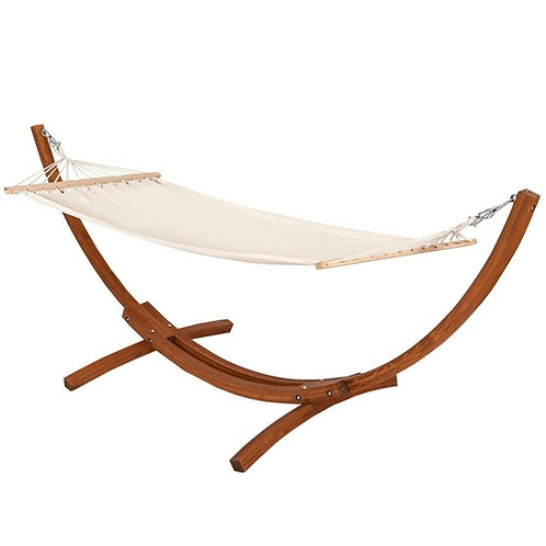 Home > Outdoor > Outdoor Furniture > Hammocks > Outdoor 10-ft Arc Wood Hammoc