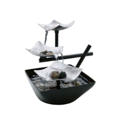 Home > Accents > Fountains > Illuminated Silver Water Springs Relaxing Table