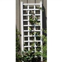 Home > Outdoor > Gardening > Trellises > 6.25 Ft Wall Trellis in White Vinyl