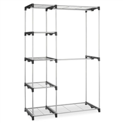 Home > Accents > Shelving Units > Freestanding Closet Organizer Garment Rack