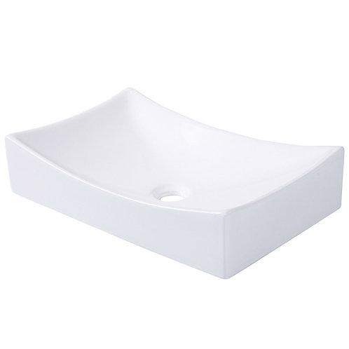 Home > Bathroom > Bathroom Sinks > Contemporary 21-inch Bathroom Ceramic Vess