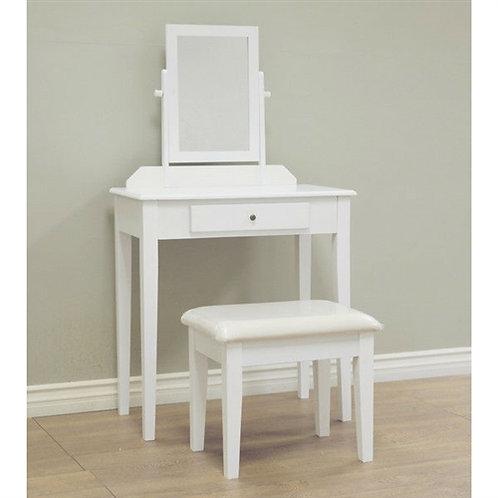 Home > Bathroom > Bathroom Vanities > Contemporary White Vanity Set with Beve
