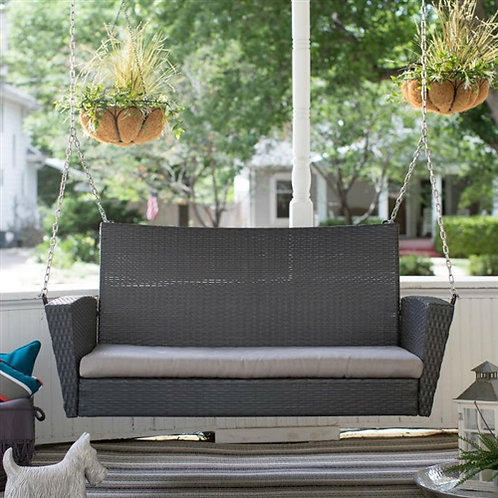 Home > Outdoor > Outdoor Furniture > Porch Swings and Gliders > Dark Brown 2-