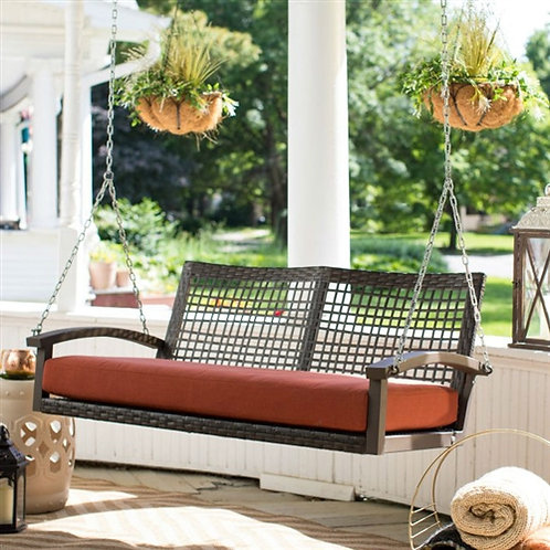 Home > Outdoor > Outdoor Furniture > Porch Swings and Gliders > Dark Brown Re