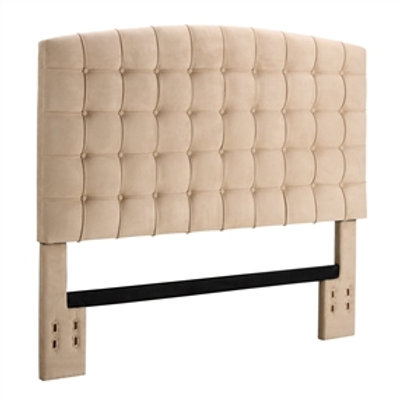 Home > Bedroom > Headboards > Full / Queen size Tufted Padded Upholstered Hea
