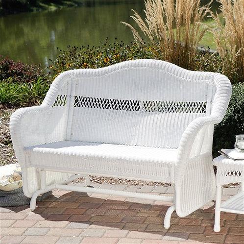 Home > Outdoor > Outdoor Furniture > Garden Benches > White Resin Wicker Outd