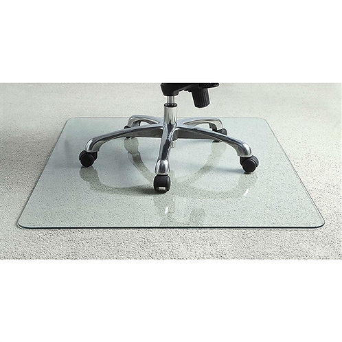 Home > Office > Chair Mats > Heavy Duty 50 Inch Tempered Glass Chair Mat