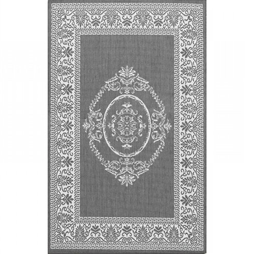 Home > Outdoor > Outdoor Rugs > 5'10 x 9'2 Grey White Medallion Indoor Outdoo