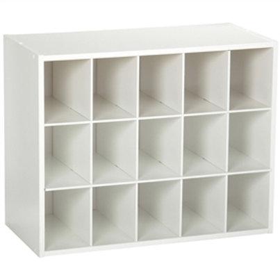 Home > Accents > Shoe Racks > 15-Cubby Stackable Shoe Rack Organizer Shelves