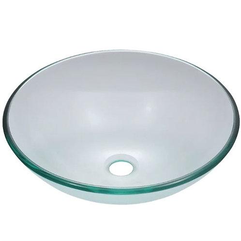 Home > Bathroom > Bathroom Sinks > Crystal Clear Tempered Glass Round Bathroo