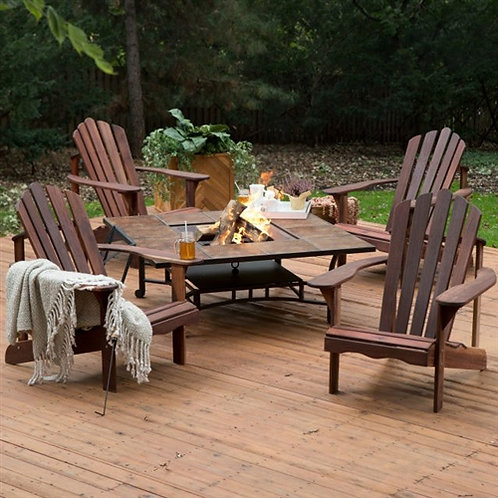 Home > Outdoor > Outdoor Furniture > Patio Furniture Sets > 5 Piece Dark Ambe