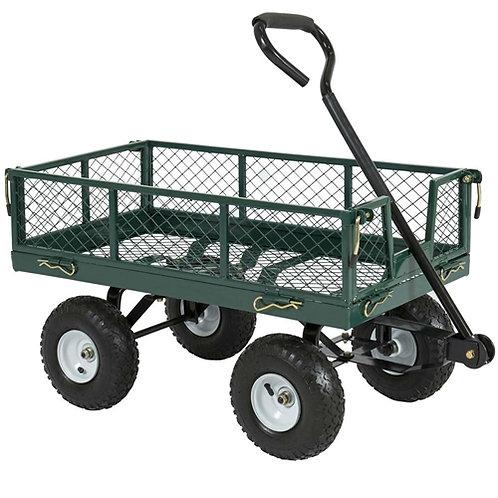 Home > Outdoor > Gardening > Wheelbarrows Carts Wagons > Heavy Duty Green Ste