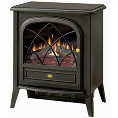Home > Accents > Electric Fireplaces > Black Compact Stove Style Electric Fir