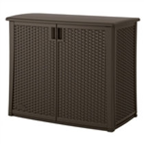 Home > Outdoor > Storage Sheds > Outdoor Resin Wicker Storage Cabinet Shed in