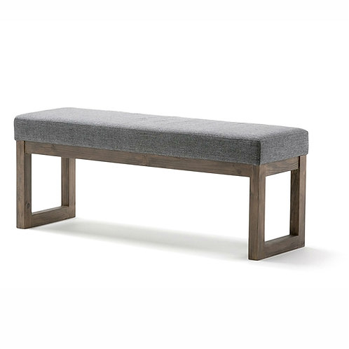 Home > Accents > Benches > Modern Wood Frame Accent Bench Ottoman with Grey U