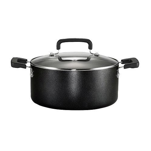 12-Piece Nonstick Dishwasher Safe Cookware Set in Black