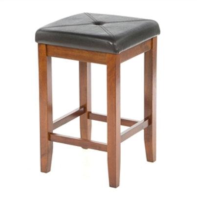 Home > Dining > Barstools > Set of 2 - 24-inch High Cherry Bar Stools w/ Cush