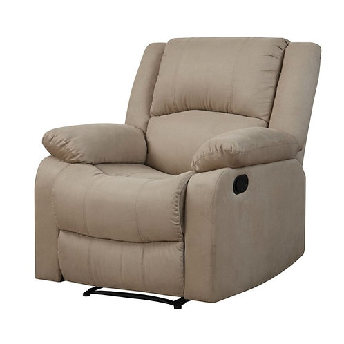 Home > Living Room > Recliners and Leather Recliner > Beige Microfiber Uphols