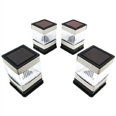 Home > Lighting > Solar Lighting > Set of 4 Solar Powered Deck or Post Cap LE
