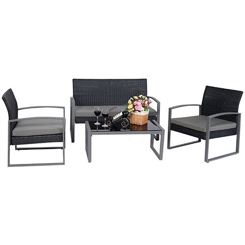 Home > Outdoor > Outdoor Furniture > Patio Furniture Sets > 4 Piece Black / G