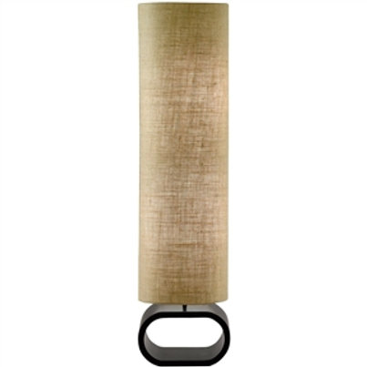 Home > Lighting > Floor Lamps > Cylinder Shape Medium Brown Burlap Floor Lamp