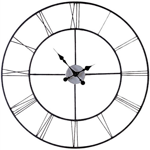 Home > Accents > Clocks > Oversized 30-inch Black Wall Clock with Roman Numer