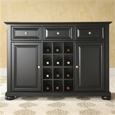 Home > Dining > Sideboards & Buffets > Black Dining Room Buffet Sideboard Cab