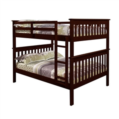 Home > Bedroom > Bed Frames > Bunk Beds > Solid Wood Full Over Full Bunk Bed