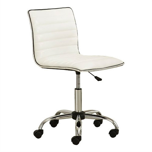 Home > Office > Office Chairs > Heavy Duty White Channel-Tufted Conference Ch