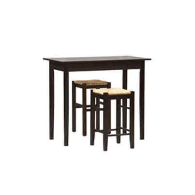 Home > Dining > Dining Sets > 3 Piece Espresso Dining Set with Table and 2 Ba