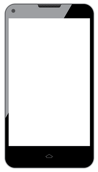 An image of a smart cell phone showing the blue Atlantis Mortgage logo on a white background.