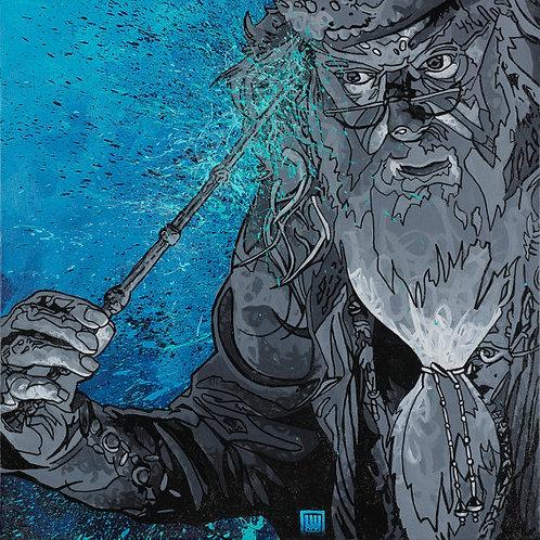 Pensive, Ode to Albus Dumbledore Print