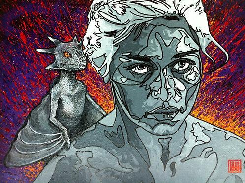 Khaleesi, Mother of Dragons Print