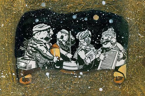Jug Band Christmas, Moonshinin' Print