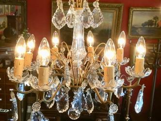シャンデリア(1920年代製)のご紹介|英国アンティークの照明なら鎌倉アンティークス