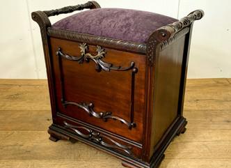 ピアノスツール(エドワーディアン)のご紹介|英国アンティークの家具なら鎌倉アンティークス