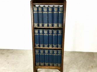 おすすめの英国アンティークアイテム|チャールズ・ディケンズの洋書とブックケースセット