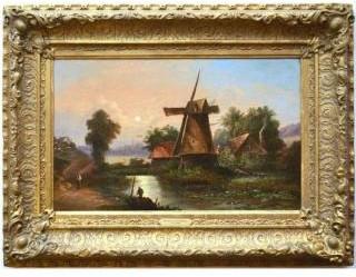 おすすめの英国アンティーク絵画|1860年頃に描かれた油絵