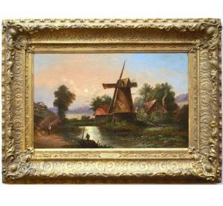 1860年頃のアンティーク油絵