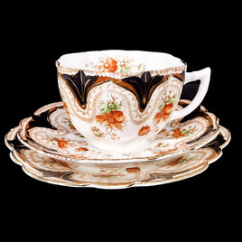 トリオカップ(Mayer & Sherratt)のご紹介 英国アンティークのティーカップなら鎌倉アンティークス