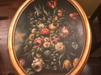 おすすめのビンテージ絵画|珍しいオーバルの油絵