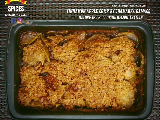 Cinnamon Apple Crisp By Chamanka Gamage