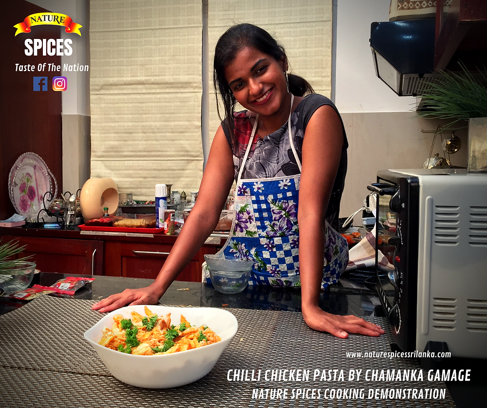Chilli Chiken Pasta By Chamanka Gamage - Nature Spices Cooking Demonstration Series 01 | Recipe 001