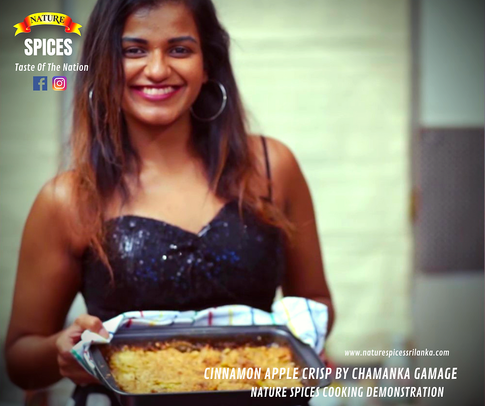 Cinnamon Apple Crisp By Chamanka Gamage - Nature Spices Cooking Demonstration Series 01 | Recipe 004