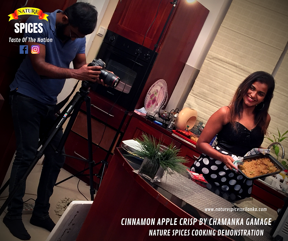 Cinnamon Apple Crisp By Chamanka Gamage - Nature Spices Cooking Demonstration Series 01   Recipe 004